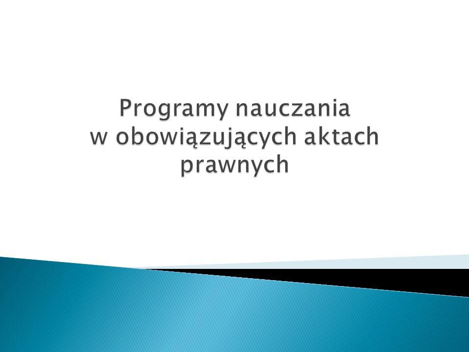 - Rozporządzenie Ministra Edukacji Narodowej z dnia 23 grudnia 2008 r.
