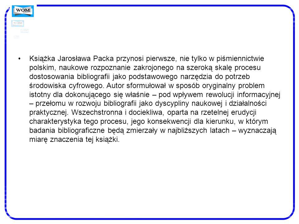 Książka Jarosława Packa przynosi pierwsze, nie tylko w piśmiennictwie polskim, naukowe rozpoznanie zakrojonego na szeroką skalę procesu dostosowania b