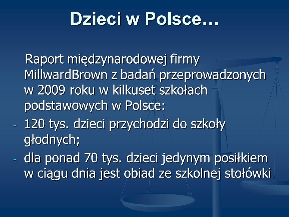 Dzieci w Polsce… Raport międzynarodowej firmy MillwardBrown z badań przeprowadzonych w 2009 roku w kilkuset szkołach podstawowych w Polsce: Raport mię