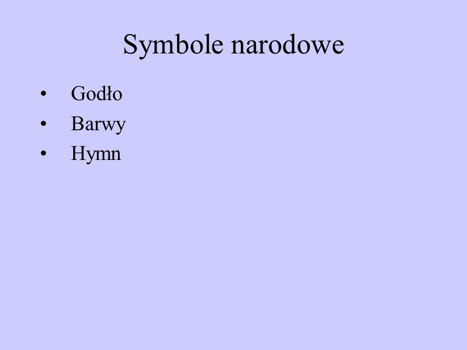 Symbole narodowe Godło Barwy Hymn