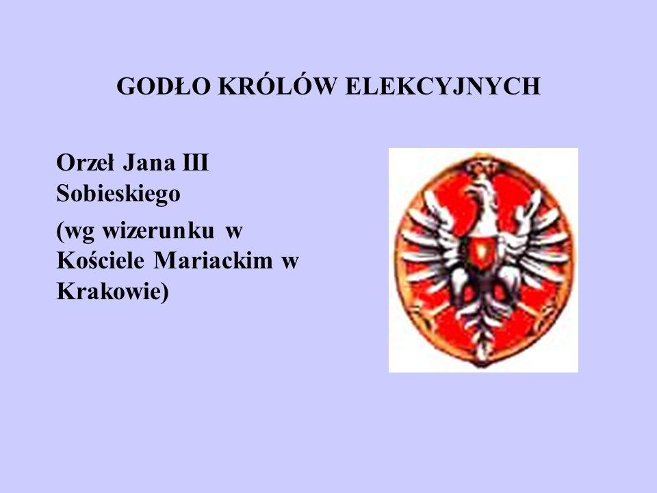 GODŁO KRÓLÓW ELEKCYJNYCH Orzeł Jana III Sobieskiego (wg wizerunku w Kościele Mariackim w Krakowie)