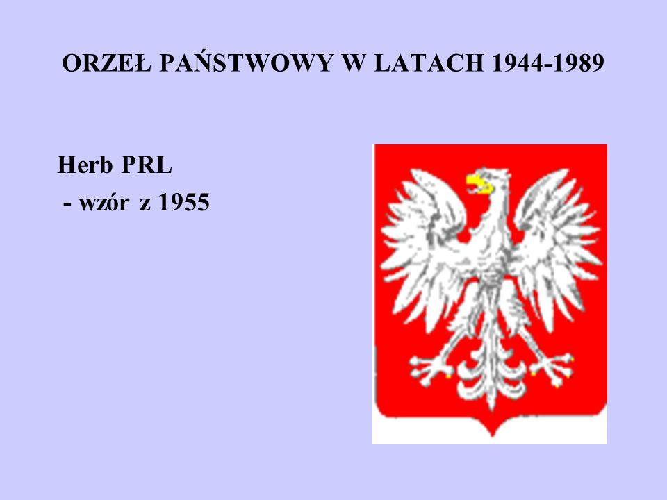 ORZEŁ PAŃSTWOWY W LATACH 1944-1989 Herb PRL - wzór z 1955