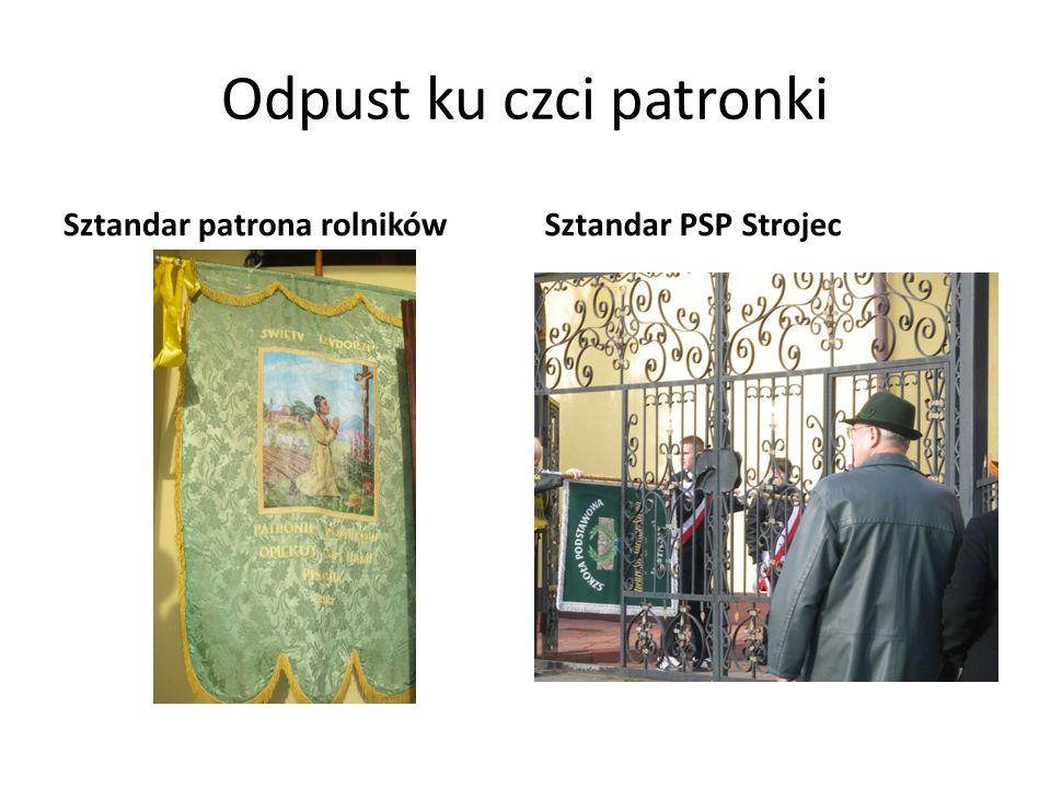 Odpust ku czci patronki Sztandar patrona rolnikówSztandar PSP Strojec