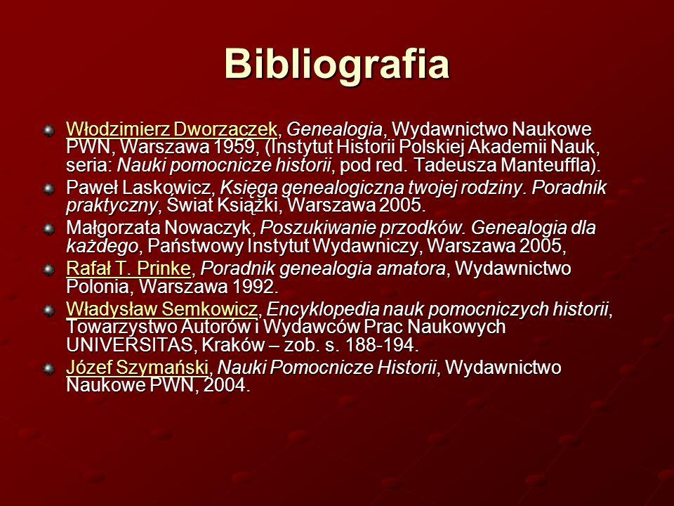 Bibliografia Włodzimierz DworzaczekWłodzimierz Dworzaczek, Genealogia, Wydawnictwo Naukowe PWN, Warszawa 1959, (Instytut Historii Polskiej Akademii Na