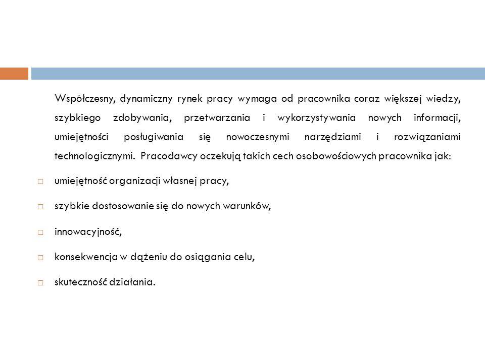 Kompetencje nauczyciela współczesnej szkoły zawodowej o Kompetencje merytoryczne.