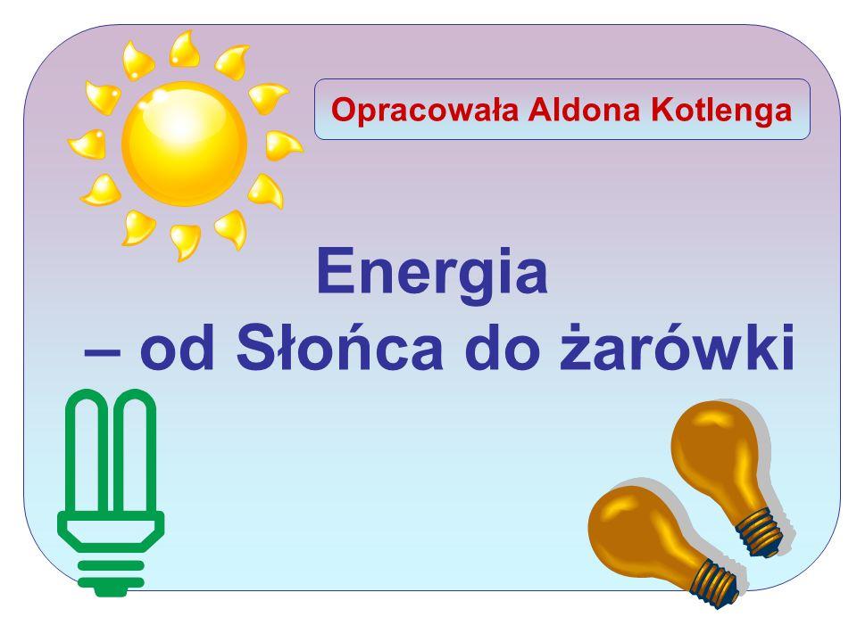 Uczeń: 1)wymienia właściwości oraz podobieństwa i różnice między światłem płomienia, żarówki, lasera; 2) omawia sposoby uzyskiwania oświetlenia dawniej i obecnie oraz charakteryzuje stosowane do tego związki chemiczne; 3) wyjaśnia związek pomiędzy budową ATP a jego funkcją jako przenośnika użytecznej biologicznie energii chemicznej; 4) omawia przebieg i ocenia znaczenie biologiczne fotosyntezy; 5) omawia przepływ energii przez ekosystemy wodne i lądowe; 6) wyjaśnia funkcjonowanie oaz hydrotermalnych; 7) przedstawia na podstawie informacji z różnych źródeł, jakie jest współczesne wykorzystanie energetyki słonecznej dla potrzeb gospodarki i jakie są perspektywy rozwoju energetyki słonecznej.