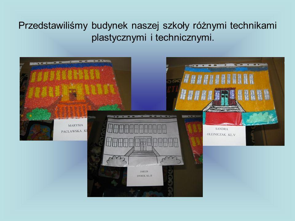 Zrobiliśmy makietę szkoły z pudełek i innych materiałów.