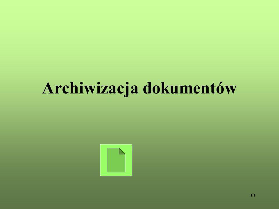 33 Archiwizacja dokumentów