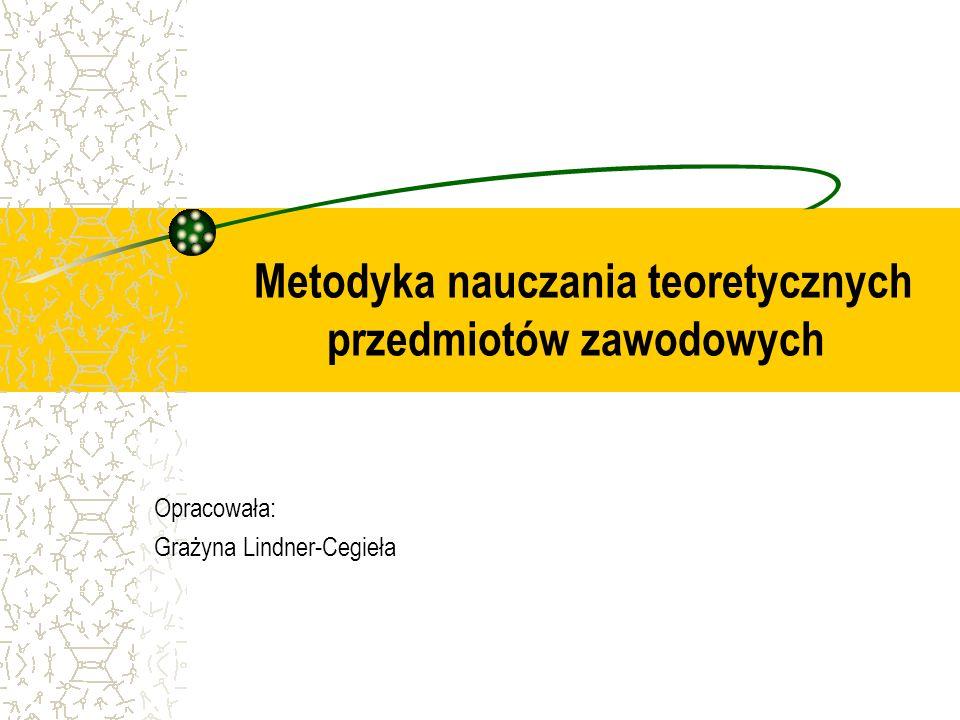 1. Przedmiot i zadania metodyki nauczania przedmiotów zawodowych
