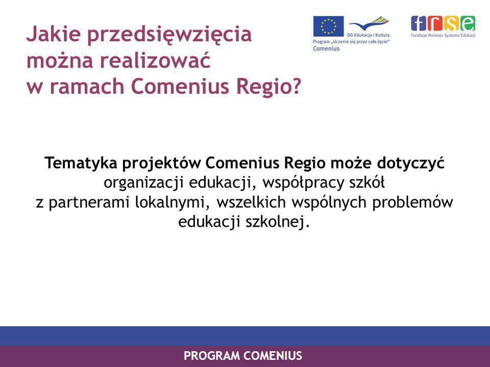 Jakie przedsięwzięcia można realizować w ramach Comenius Regio.