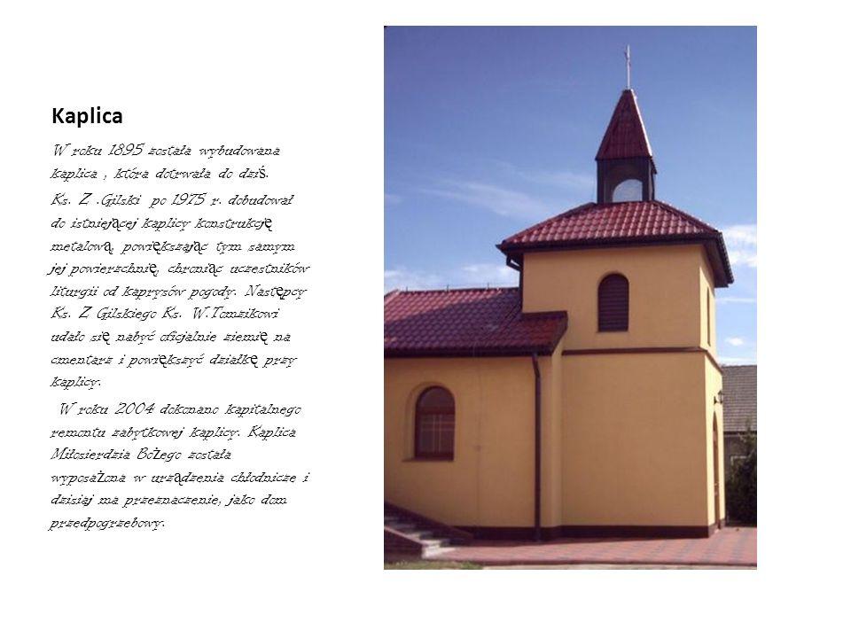 Ołtarz główny W latach 1997-1999 Proboszcz Jan Kałdon sprawił nowe tabernakulum oraz nowy ołtarz główny z obrazem Matki Bo ż ej Nieustaj ą cej Pomocy.