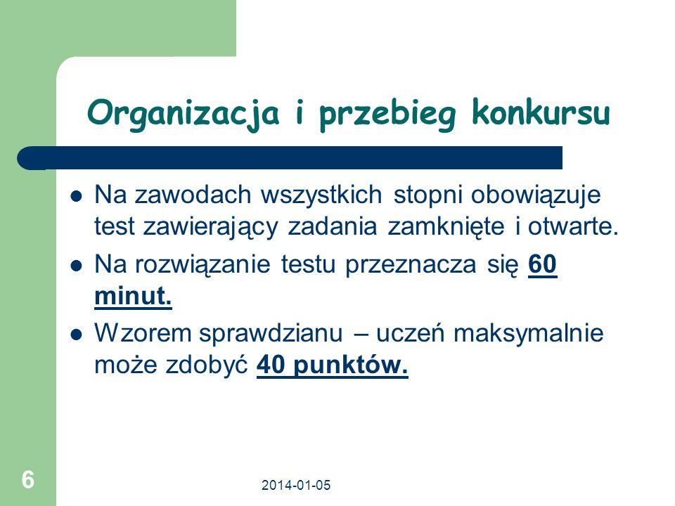 2014-01-05 17 Refleksje po konkursach humanistycznych Niepoprawnie wypełnione karty kodowe.