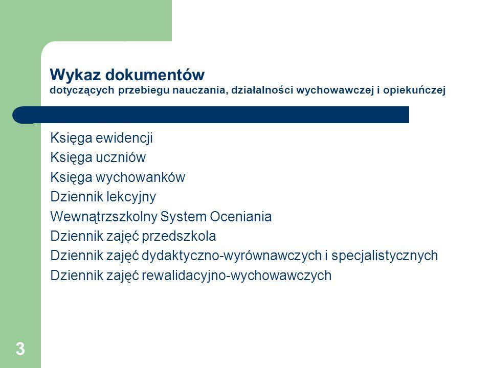 64 Zmiany Nowe świadectwa i druki (zał.