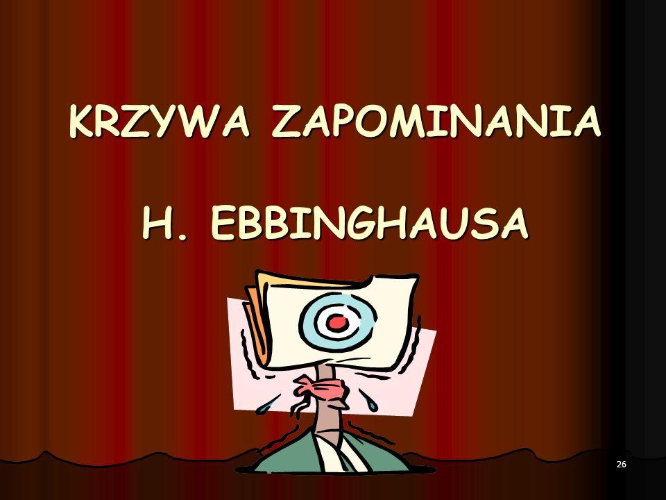 KRZYWA ZAPOMINANIA H. EBBINGHAUSA 26