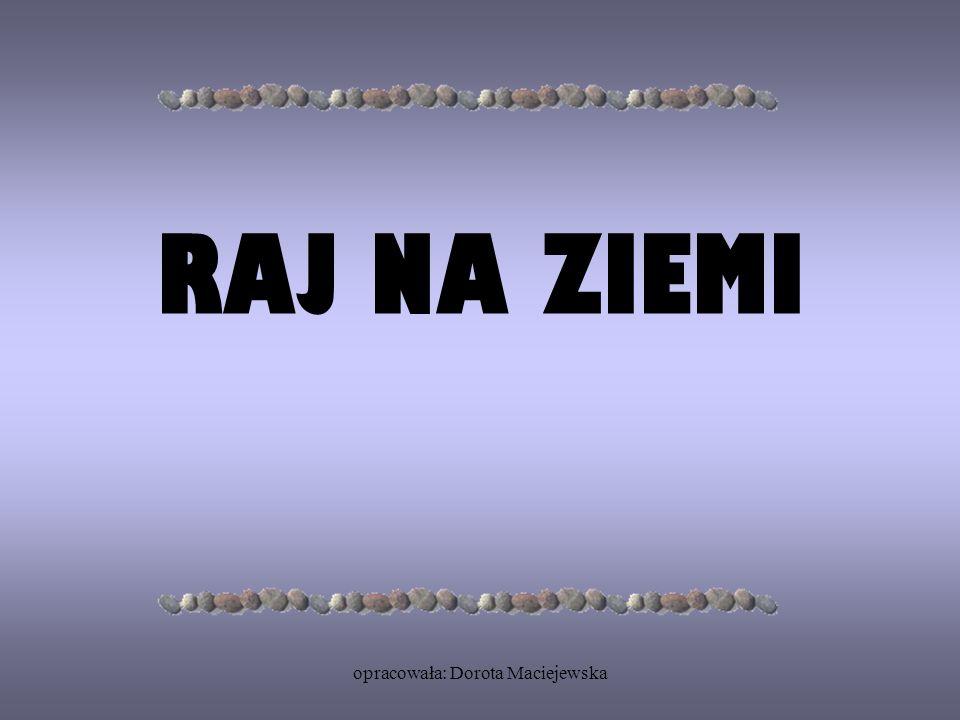 opracowała: Dorota Maciejewska RAJ NA ZIEMI