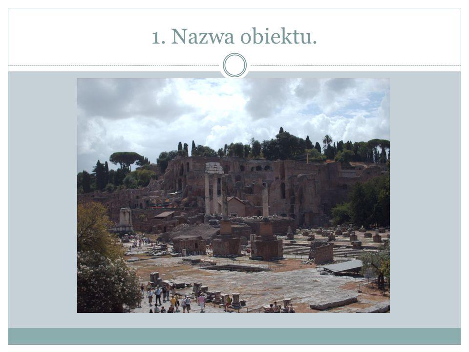 2. Nazwa budowli.