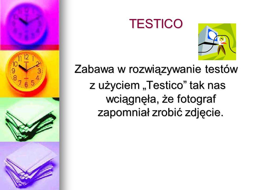 TESTICO Zabawa w rozwiązywanie testów z użyciem Testico tak nas wciągnęła, że fotograf zapomniał zrobić zdjęcie.