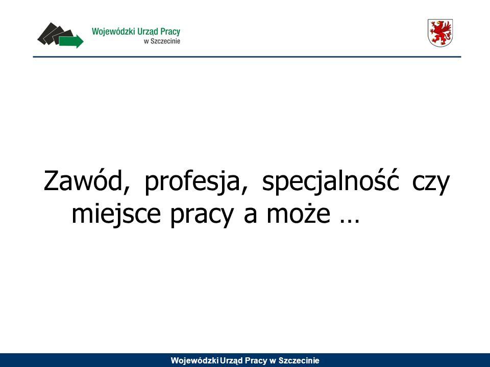 Wojewódzki Urząd Pracy w Szczecinie Zawód, profesja, specjalność czy miejsce pracy a może …