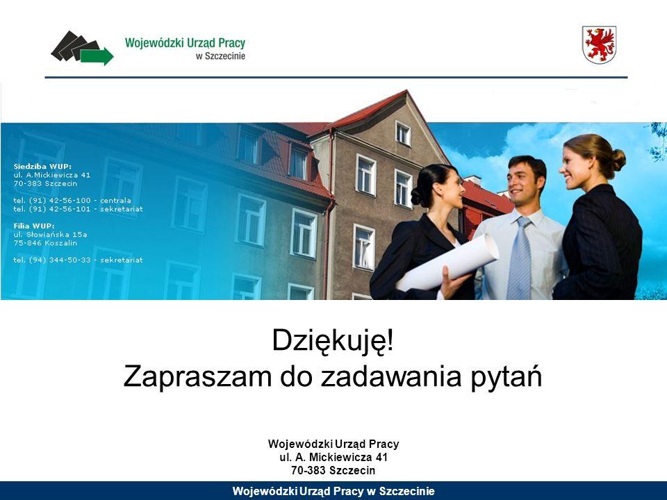 Wojewódzki Urząd Pracy w Szczecinie Wojewódzki Urząd Pracy ul.