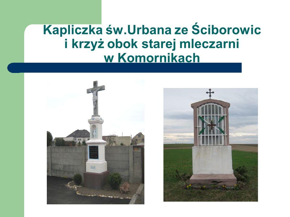 Krzyż koło Raczków i kaplica św. Marka w Komornikach
