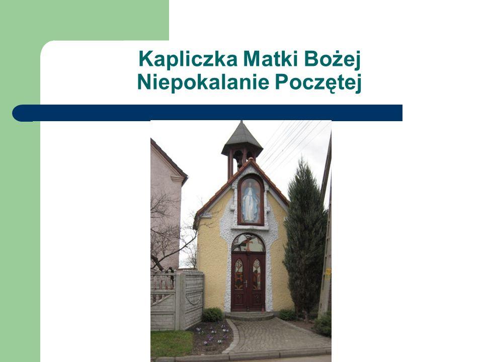 Kapliczka Matki Bożej Niepokalanie Poczętej