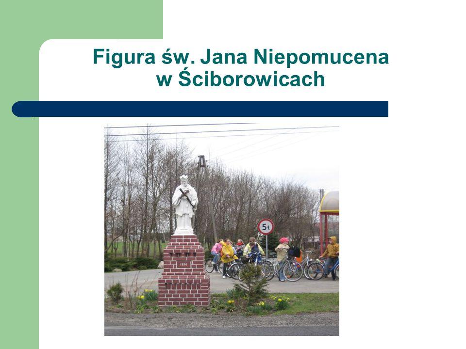 Figura św. Jana Niepomucena w Ściborowicach