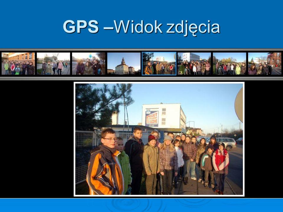 GPS –Widok zdjęcia