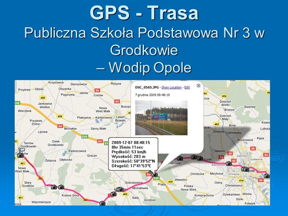 GPS - Trasa Publiczna Szkoła Podstawowa Nr 3 w Grodkowie – Wodip Opole