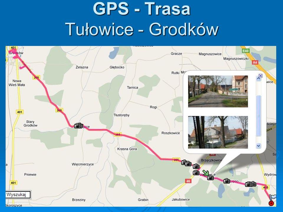 GPS - Trasa Tułowice - Grodków