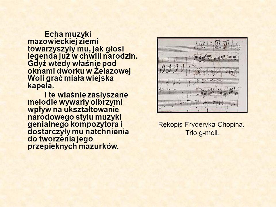 Przypomnijmy koleje życia F.Chopina.