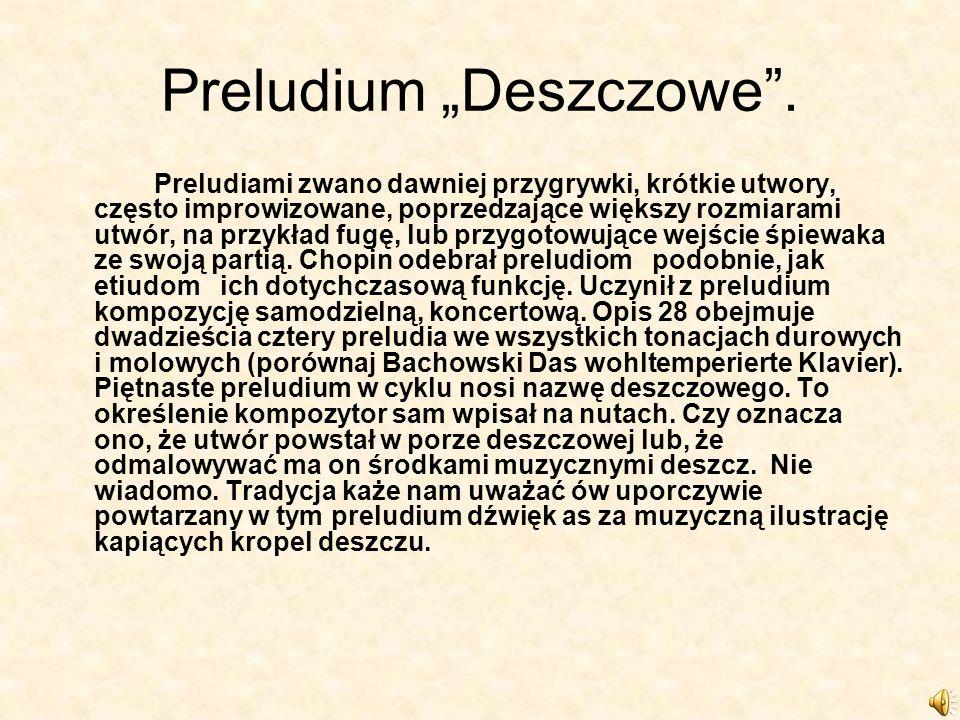 Mazurek F- Moll Mazurek prócz poloneza był ulubioną formą Chopina.