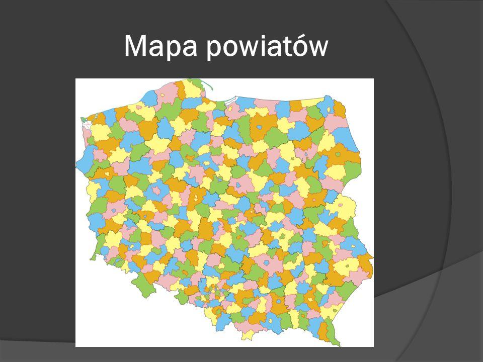 Mapa powiatów