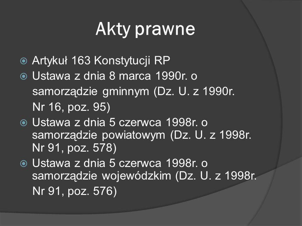 Samorząd gminny Gmina jest podstawową jednostką samorządu terytorialnego w Polsce.