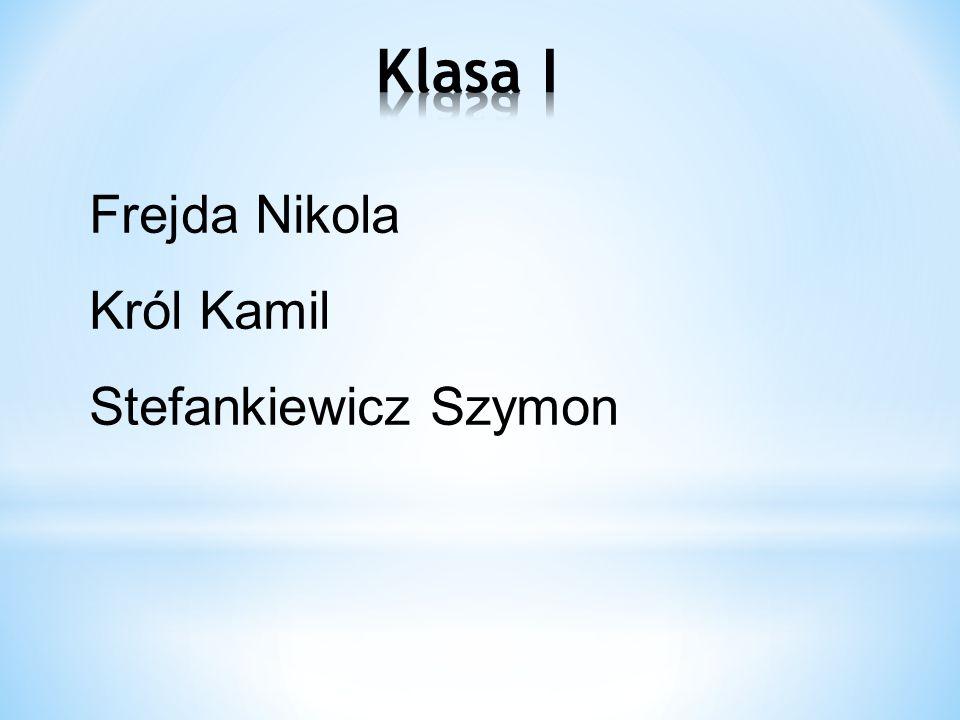 Kiełczewska Anna Ulanowski Wiktor Kosmala Jakub Kąpiela Kamil Ćwiklińska Julia