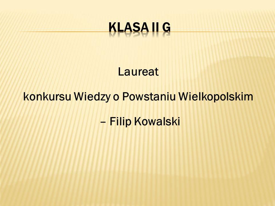 Laureat konkursu Wiedzy o Powstaniu Wielkopolskim – Filip Kowalski