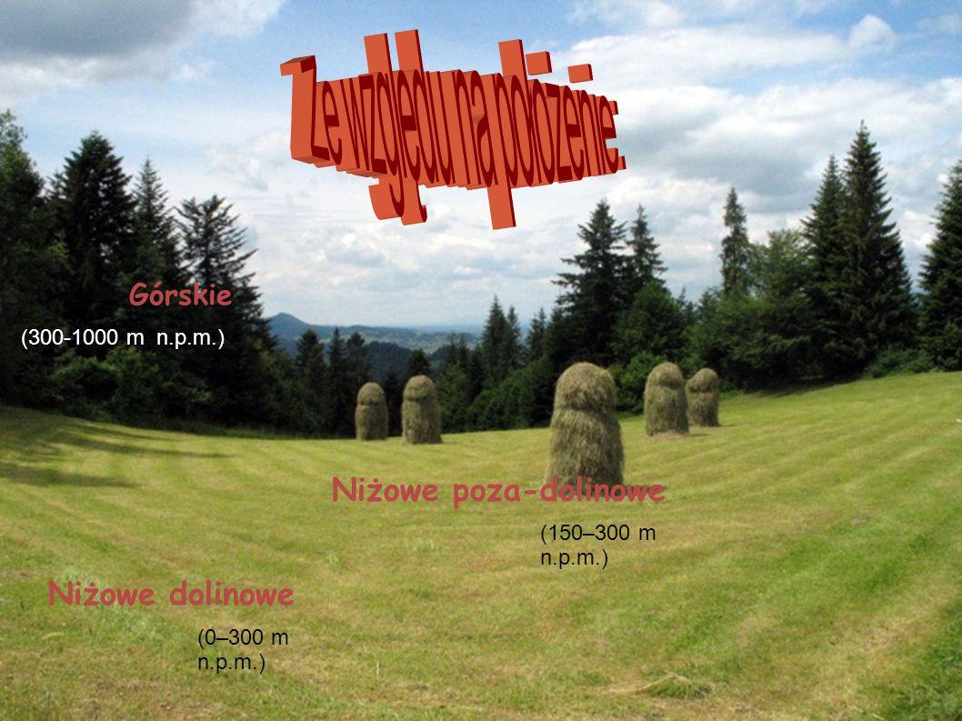 Górskie Niżowe dolinowe Niżowe poza-dolinowe (0–300 m n.p.m.) (150–300 m n.p.m.) (300-1000 m n.p.m.)