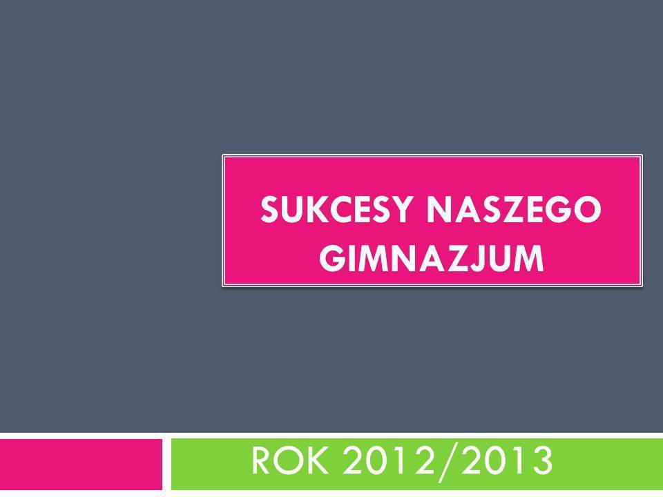 SUKCESY NASZEGO GIMNAZJUM ROK 2012/2013