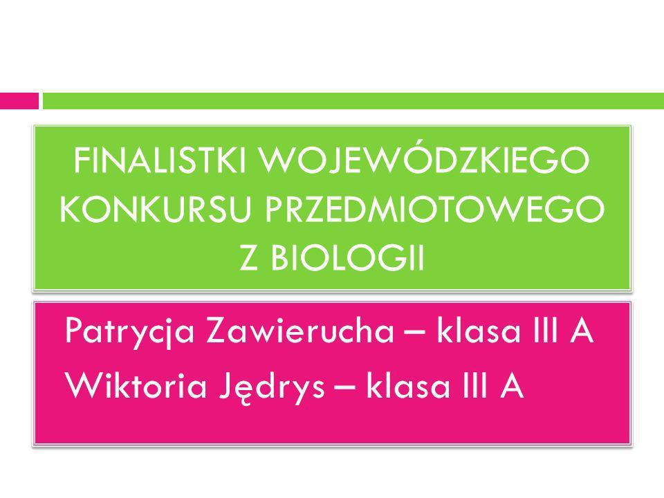 Rejonowy konkurs przedmiotowy z matematyki Angelika Jaworska – klasa III A