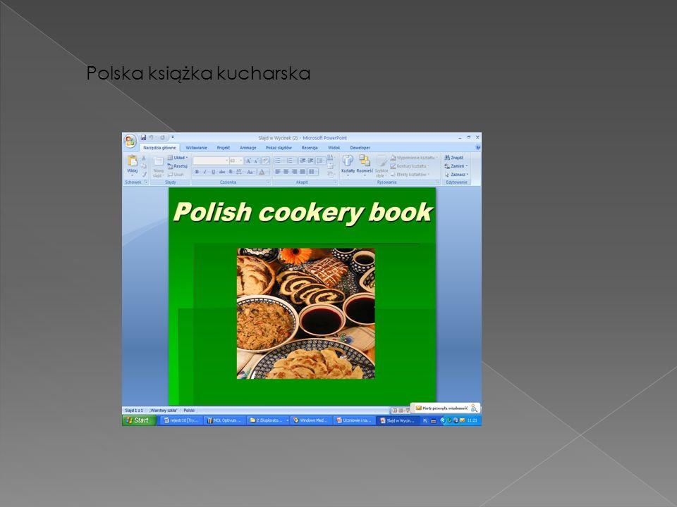 Polska książka kucharska