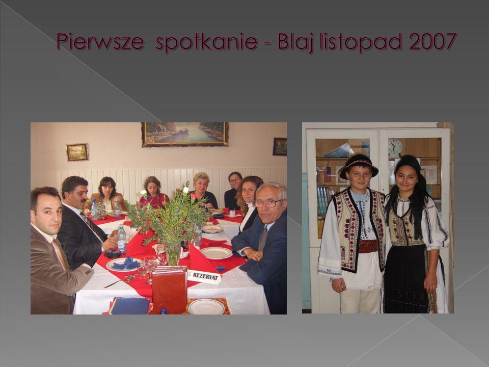 W dniach 7 – 12 listopada 2006 miało miejsce pierwsze robocze spotkanie krajów partnerskich krajów partnerskich biorących udział w projekcie w Blaj w projekcie w Blaj w Rumunii w Rumunii