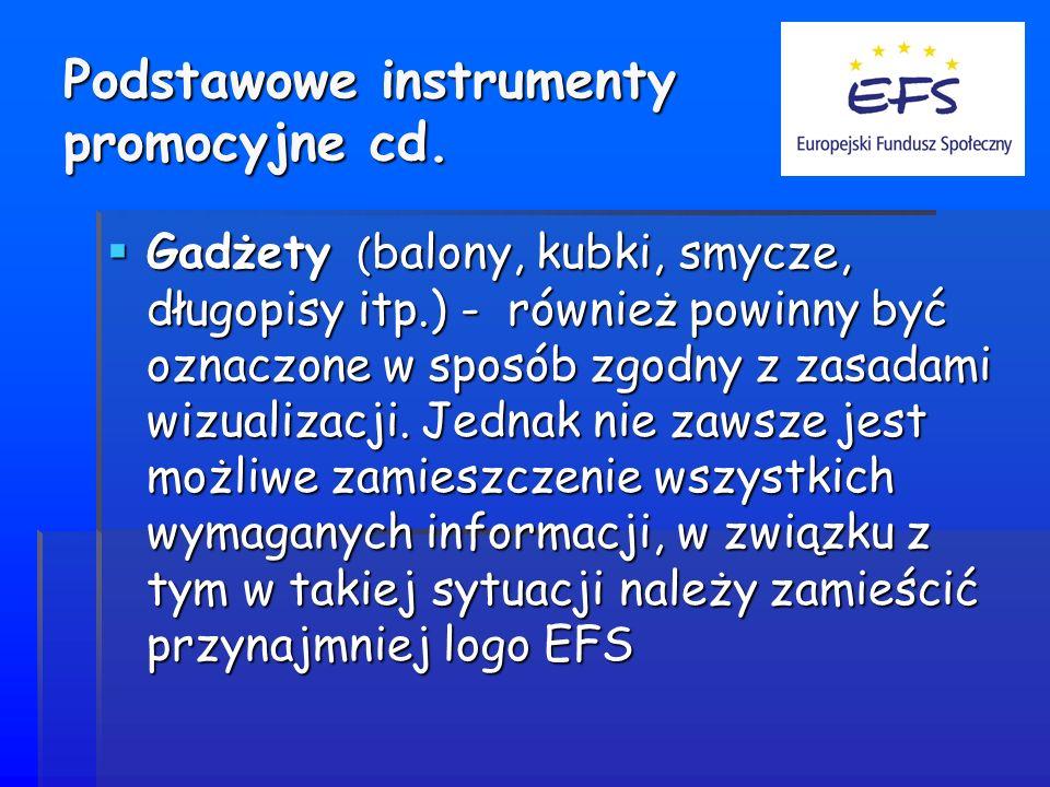 Podstawowe instrumenty promocyjne cd.