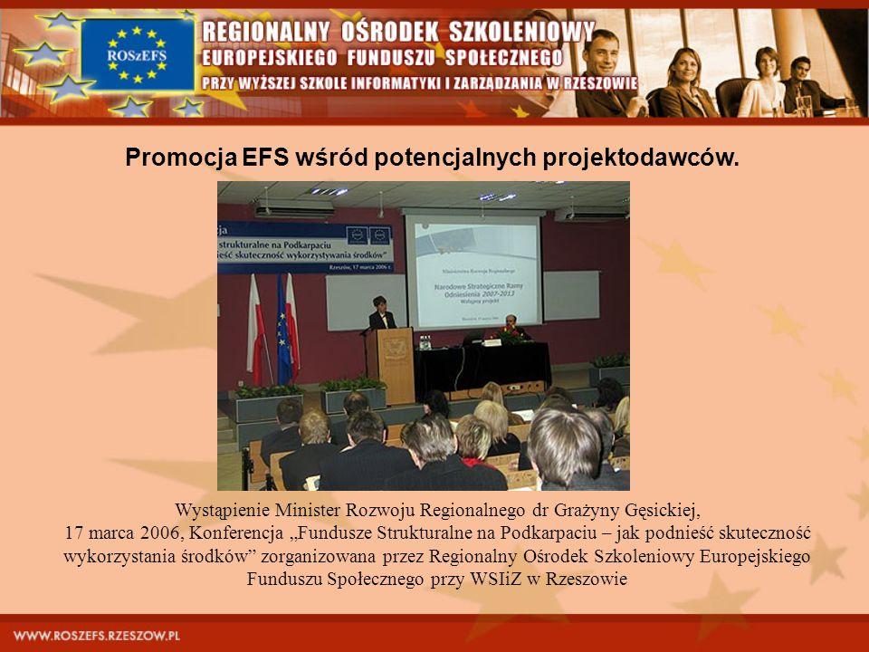 Wystąpienie Minister Rozwoju Regionalnego dr Grażyny Gęsickiej, 17 marca 2006, Konferencja Fundusze Strukturalne na Podkarpaciu – jak podnieść skutecz
