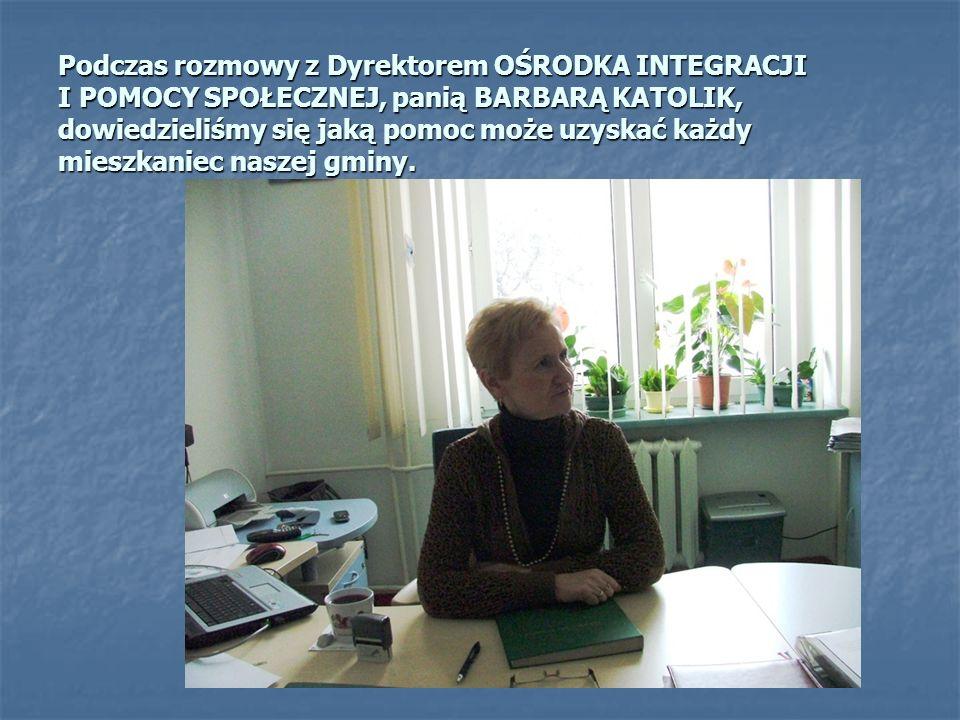 Chwilka wytchnienia przed gabinetem SEKRETARZA GMINY, pani Barbary Durkalec.