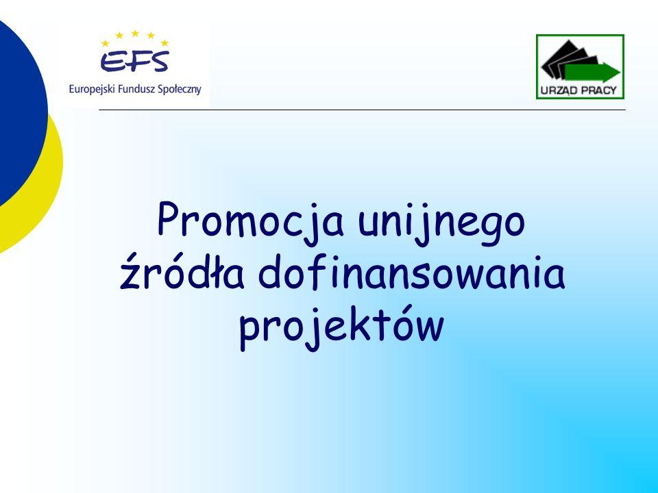 Promocja unijnego źródła dofinansowania projektów