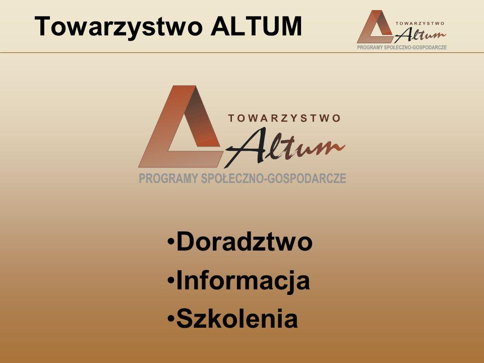 Towarzystwo ALTUM Doradztwo Informacja Szkolenia