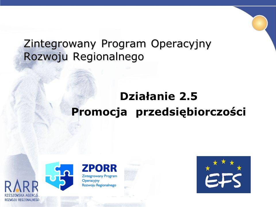 Zintegrowany Program Operacyjny Rozwoju Regionalnego Działanie 2.5 Promocja przedsiębiorczości
