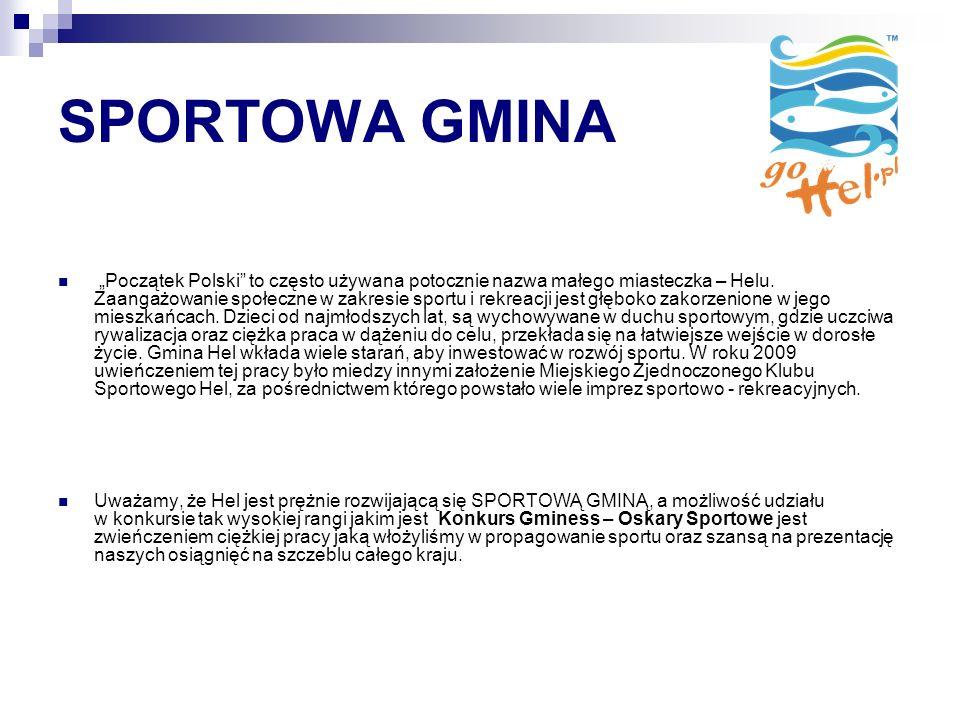 SPORTOWA GMINA Początek Polski to często używana potocznie nazwa małego miasteczka – Helu.