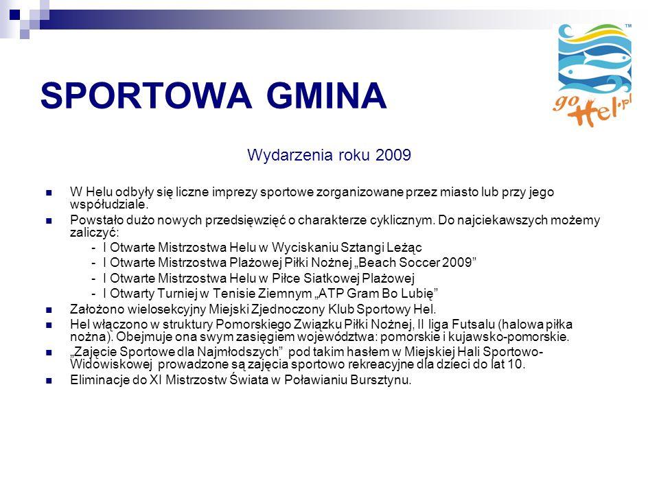 SPORTOWA GMINA Wydarzenia roku 2009 W Helu odbyły się liczne imprezy sportowe zorganizowane przez miasto lub przy jego współudziale.