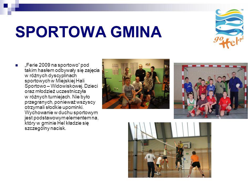 SPORTOWA GMINA Ferie 2009 na sportowo pod takim hasłem odbywały się zajęcia w różnych dyscyplinach sportowych w Miejskiej Hali Sportowo – Widowiskowej.