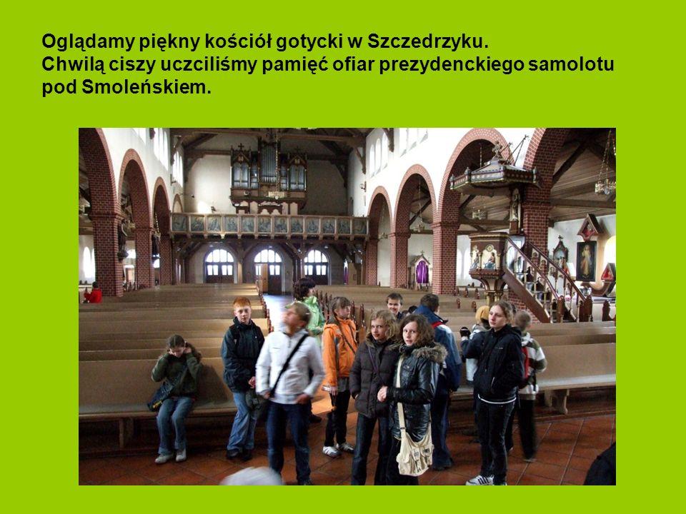 Ostatnią miejscowością, którą odwiedziliśmy w czasie naszej wyprawy był Szczedrzyk. Początki wsi sięgają XIII wieku, a jej nazwa wywodzi się od polski